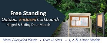 Outdoor Free Standing Enclosed Bulletin Boards At BulletinBoards40Sale Custom Exterior Bulletin Boards Model Collection