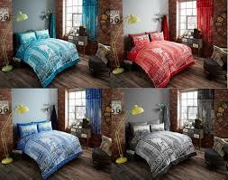 inspire modern duvet cover fl bedding set single double king super king
