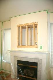 mounting tv without studs above fireplace wall into metal mounting tv without studs