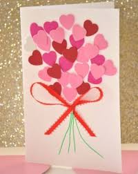 DIY Valentine Heart Bouquet Card - Cute & easy for the kids to make for  grandparents.
