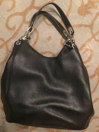 nwot michael kors fulton large leather shoulder tote black 398 00