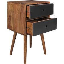 Retro Nachtkonsole Nachtschrank Holz Nachtkästchen Schlafzimmer