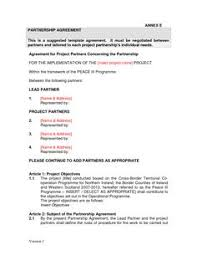 Sample Memorandum Of Understanding Business Partnership - Doc By ...
