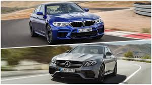 BMW Convertible bmw vs mercedes drift : 2018 BMW M5 versus 2018 Mercedes-AMG E 63: a static comparison