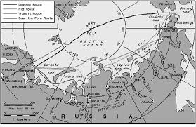 Polar Routes Charts 7 Map Of The Northern Sea Route With The Main Transit