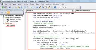 How To Quickly Export The Business Cards Of Outlook Contacts Into An