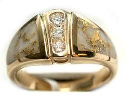 distinctive diamonds and natural gold quartz