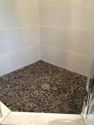 river rock floor tile rock looking floor tile glriver stone andj home design shower