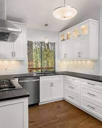 White Cabinets With Black Countertops Houzz