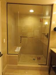 wide open doors. Caesars Atlantic City: Shower With Seating And Wide Open Door Doors