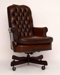 antique deep buttoned leather swivel desk chair antique leather swivel desk chair