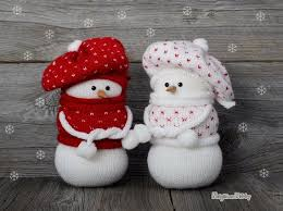 Knitted Snowmen Christmas Decorations Knit Snowman