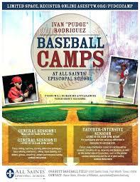 Baseball Brochure Template Sports Camp Flyer Template Grupofive Co