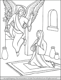 Click on for a variety of themes to find one that suits your fancy. Joyful Mysteries Rosary Coloring Pages The Catholic Kid Catholic Coloring Pages And Games For Chil Heart Coloring Pages Coloring Pages Angel Coloring Pages