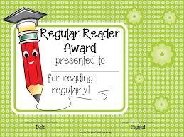 reading awards and certificate templates customizable regular reader award