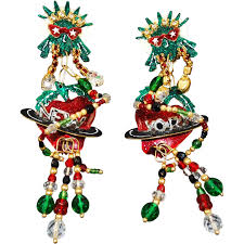 lunch at the ritz new york big apple earrings estate beads jewelry ruby lane