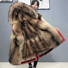 <b>2019</b> Winter Jacket Women <b>Real Fur Coat</b> big Natural <b>raccoon Fur</b> ...