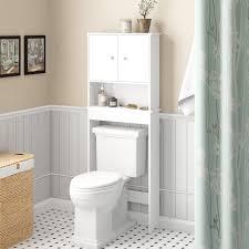 winston porter xanthe 23 56 w x 61 44 h over the toilet storage reviews wayfair