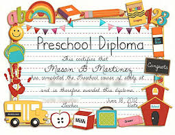 Preschool Diploma Template New Vector Of Child Or