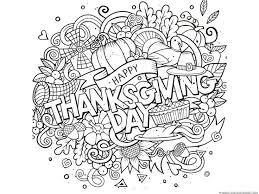 Small Picture Free Printable Thanksgiving Coloring Pages For Adults Happy
