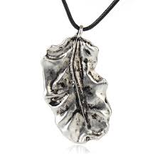details about men s vintage uni alloy big leaf pendant wax rope long necklace sweater chain