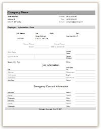 Employee Info Sheet Information Form Word Standart Therefore For Ms ...