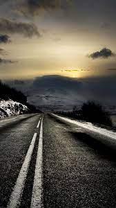Mountain Road Sunrise iPhone 6 Plus HD ...