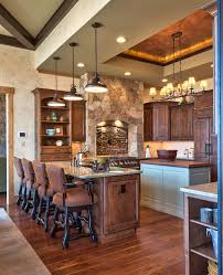 cabin kitchen ideas kitchen rustic with blue kitchen island cabinetry cabin lighting ideas