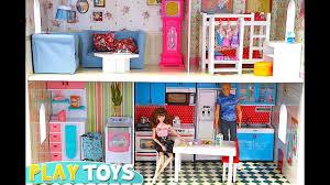 pink dolls house furniture. Pink Dolls House Furniture. Barbie Huge Doll House! Play Baby Furniture! Furniture