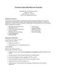 Sample Summary Of Qualifications For Resume Tomyumtumweb Com