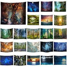 small large tapestry landscape wall