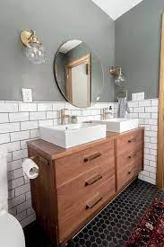 mid century dresser into vanity