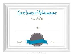Printable Achievement Certificates Free Customizable Printable Certificates Of Achievement Hashtag Bg