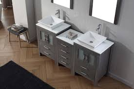 66 double sink bathroom vanity. virtu usa dior 66 double bathroom vanity set in zebra grey sink