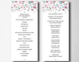 program template for wedding foldover wedding program greenery ceremony booklet flowers diy