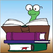 clip art cartoon bookworm 1 color i abcteach preview 1