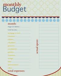 Project On Family Budget For A Month Monthly Budget Free Printable 24 7 Moms