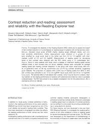 pdf contrast reduction and reading essment and reliability with the reading explorer test