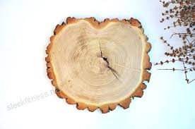 wood slab cake stand tree slice using stumps as centerpieces rustic charger centerpiece australia