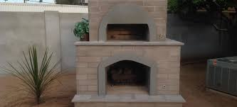 brick pizza oven fireplace