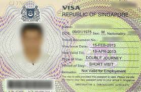 singapore visa doents for