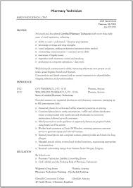 Examples Of Pharmacy Technician Resumes Examples Of Resumes