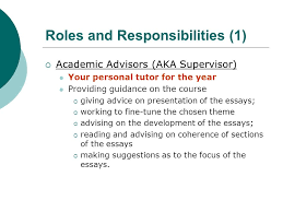 thematic independent studies lecture essay ppt video  2 roles