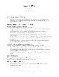 Entry Level Resume Objectives Wikirian Com