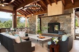 edison bulb chandelier porch mediterranean with beige cushion beige stone