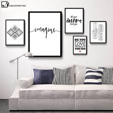 motivational quote minimalist art canvas poster print abstract painting black white wall picture modern home decoration on canvas black and white wall art with motivational quote minimalist art canvas poster print abstract