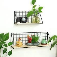 home storage shelves decor creative iron crafts diy metal floating brackets