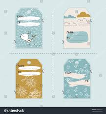 Tags For Gifts Templates Vector Set Winter Gift Tag Templates Stock Vector Royalty Free