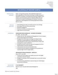 Human Resources Generalist Resume Human Resources Generalist Resume Summary Achievements Pdf Resumes 13