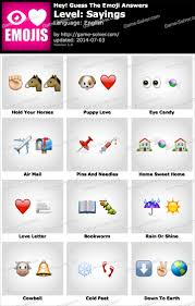 Hey Guess The Emoji Sayings Answers Game Solver